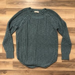 Teal Knit Long Sleeve Sweater